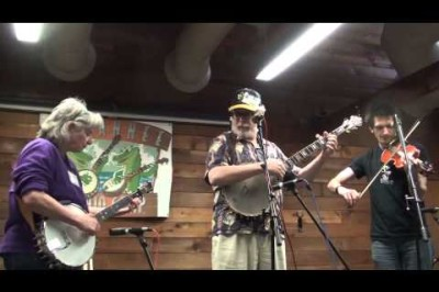 Bob Carlin, Cathy FInk, and Adam Hurt Sugar play Sugar Hill at Suwannee Banjo Camp 2014