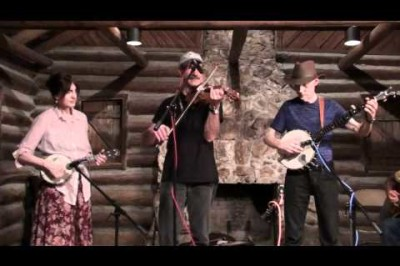 Brad Leftwich, Linda Higginbotham, Paul Brown, and Mac Benford  at Suwannee Banjo Camp 3.12